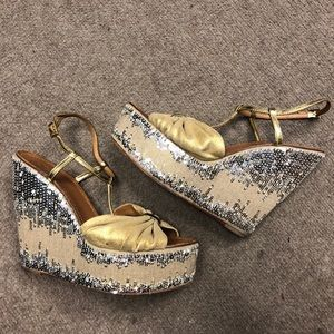 Tory Burch sparkle wedges